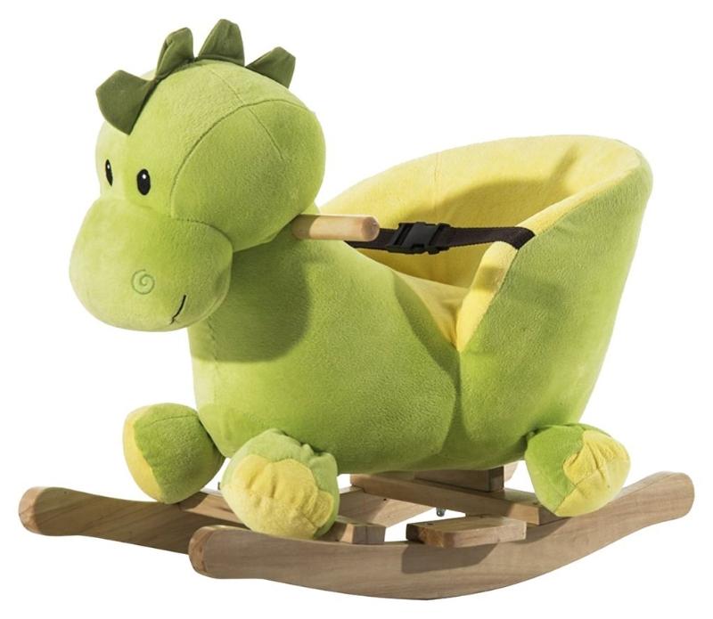 Schommelpaard pluche schommeldier paard liedjes speelgoed kinderen babyschommel