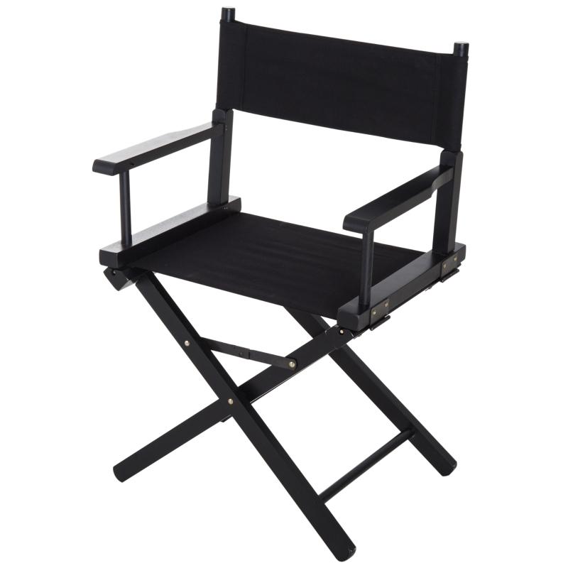 regisseursstoel tuinstoel klapstoel landelijke stoel fauteuil zwart / groen