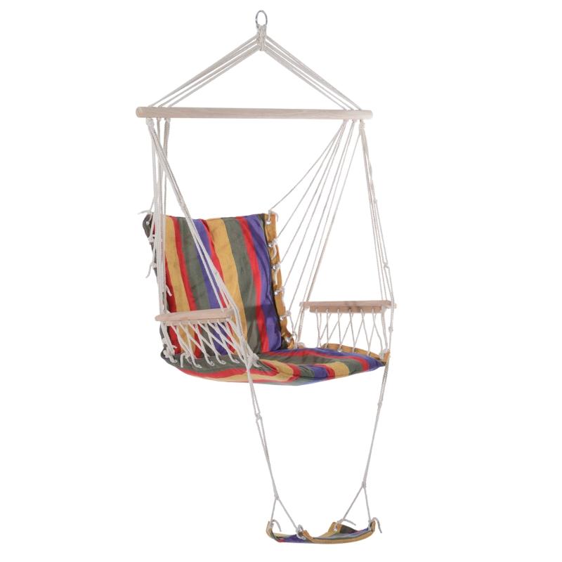 Outsunny Hanging Hammock-Multi-Colour