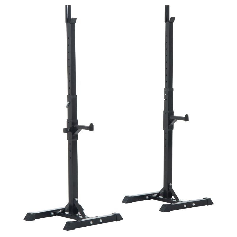 HOMCOM Adjustable Weights Barbell Squat Stand-Black