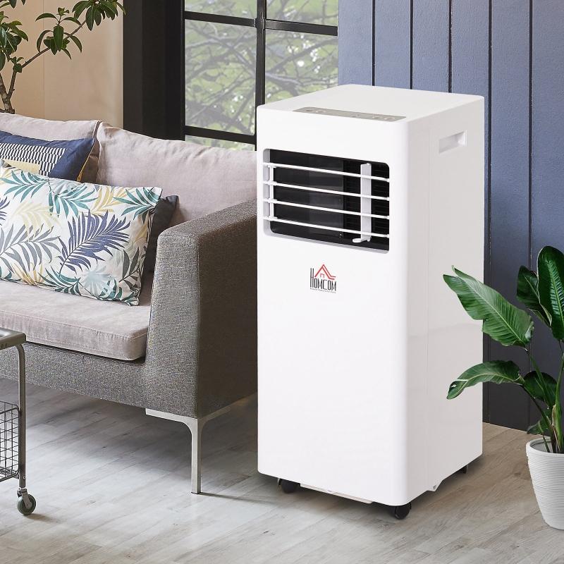 HOMCOM® Mobile Klimaanlage 3-in-1 Klimagerät Entfeuchter Fernbedienung 24h Timer ABS