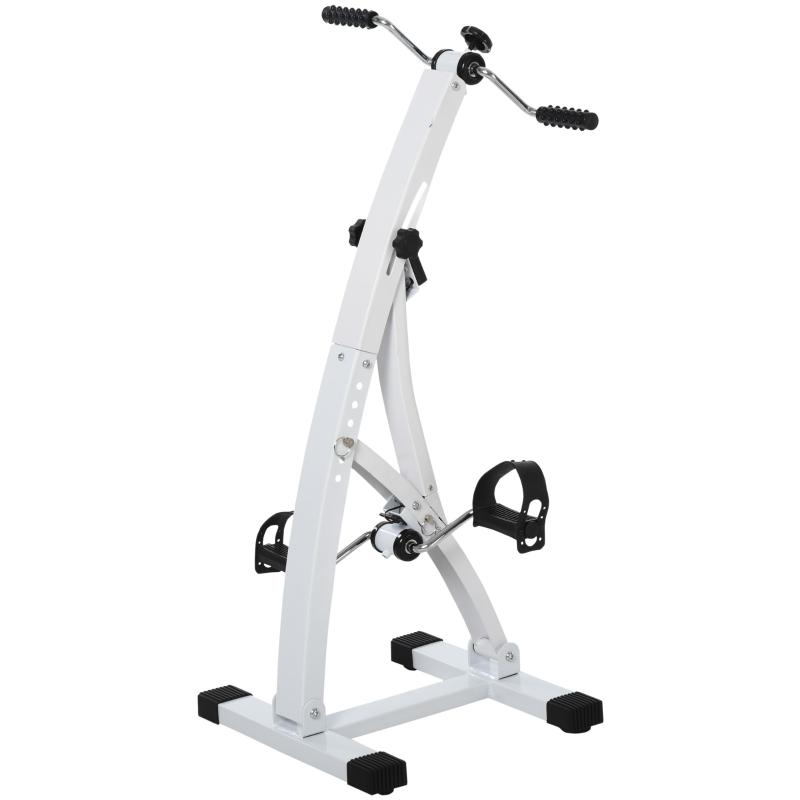 HOMCOM® Heimtrainer Bewegungstrainer für Senioren | Pedaltrainer | 41 x 50 x 96 cm | Weiß