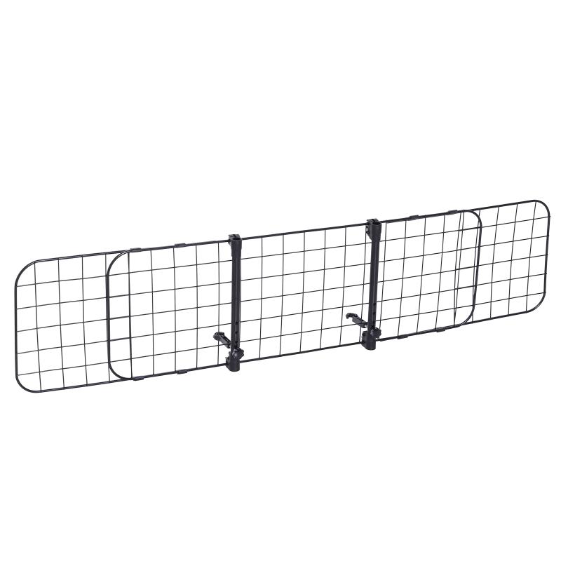 PawHut® Hundegitter Auto Universal verstellbar Kofferraumgitter Trenngitter Metall schwarz (91-145) x 30 cm