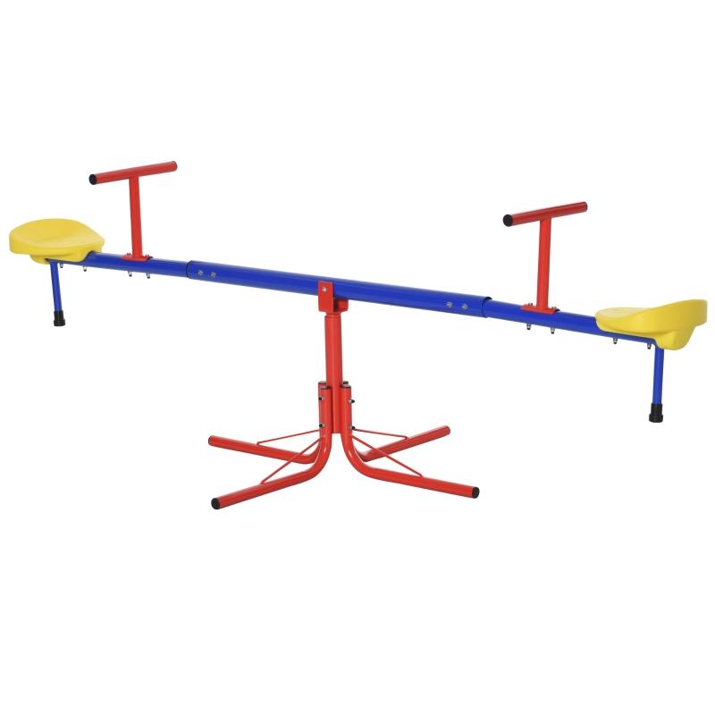 Outsunny® Kinder Gartenwippe 360° drehbare Wippe Karussellwippe Metall Mehrfarbig