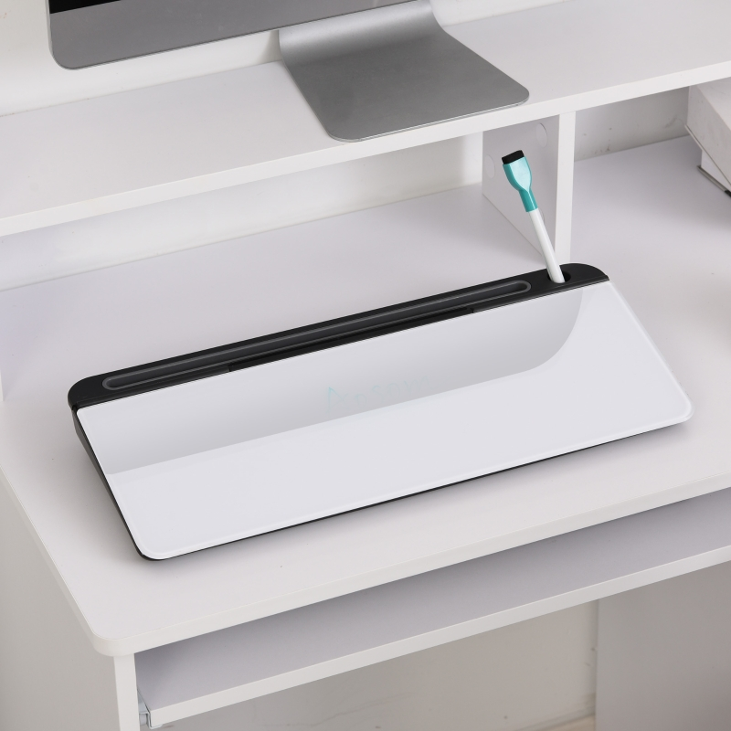 Vinsetto® Tisch-Organizer und Memoboard für Schreibtisch mit Tablett-Stand Weiß+Schwarz