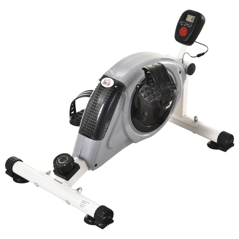 HOMCOM® Heimtrainer Mini Bike Pedaltrainer mit LCD-Display Magnetwiderstand Stahl