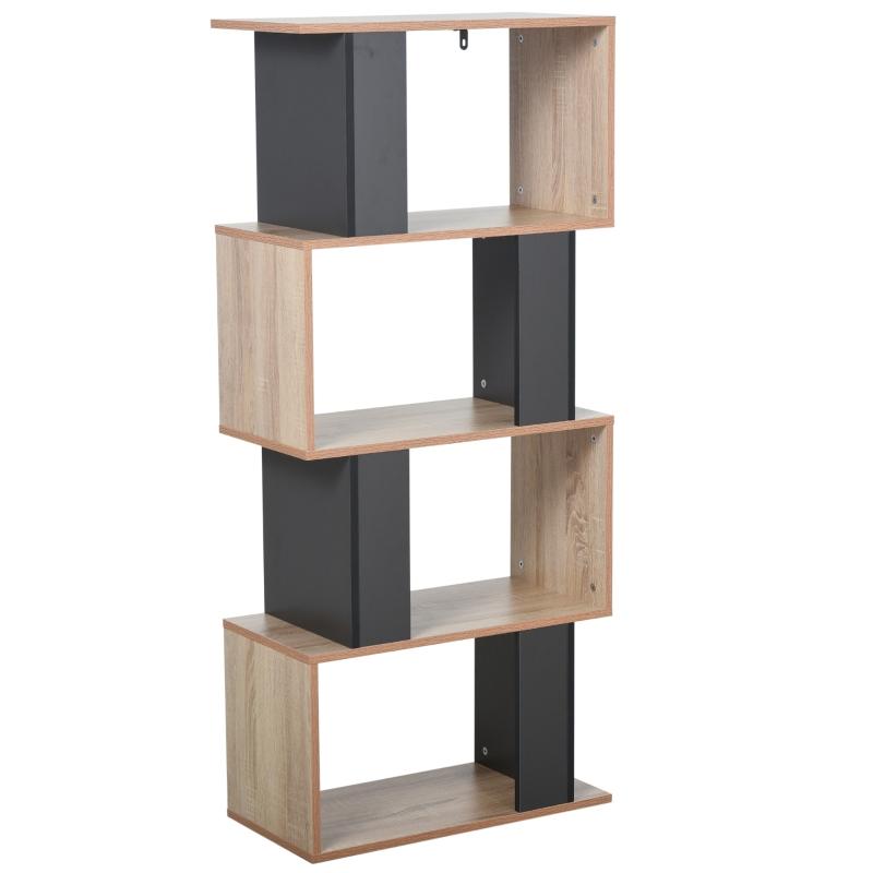 HOMCOM® Bücherregal, Standregal , Wohnzimmerregal, Spielzeugregal mit 4 geräumigen Kuben