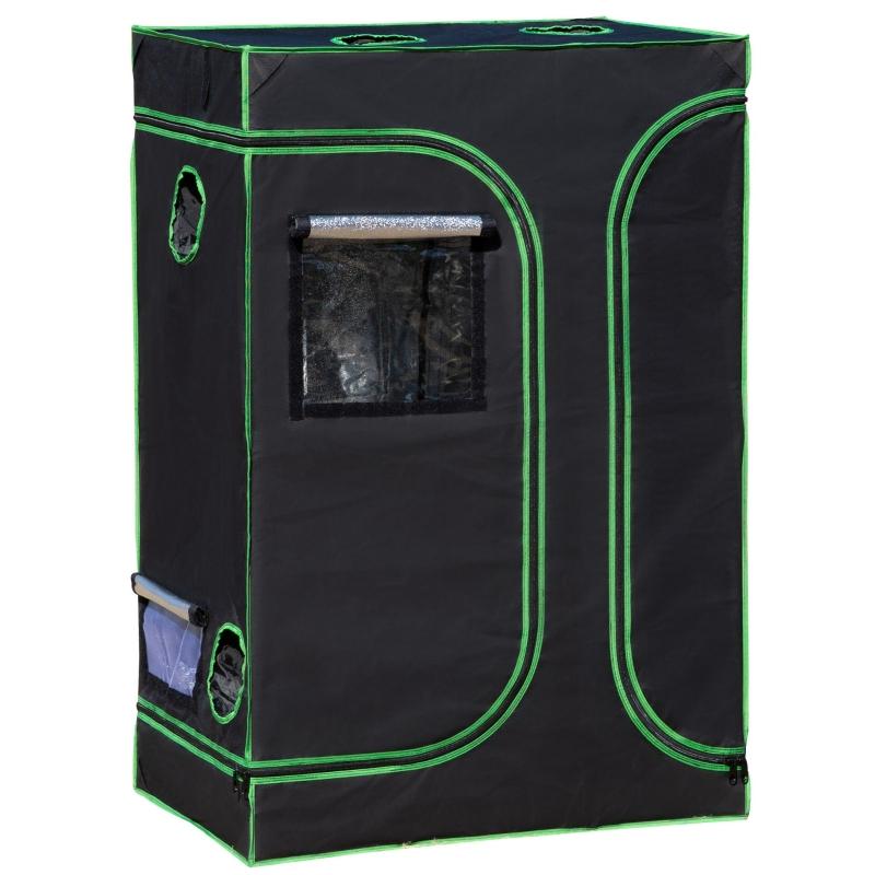 Outsunny® Growbox Growzelt 90x60x135cm Gewächshaus Pflanz 600D Oxford Tuch Stahl