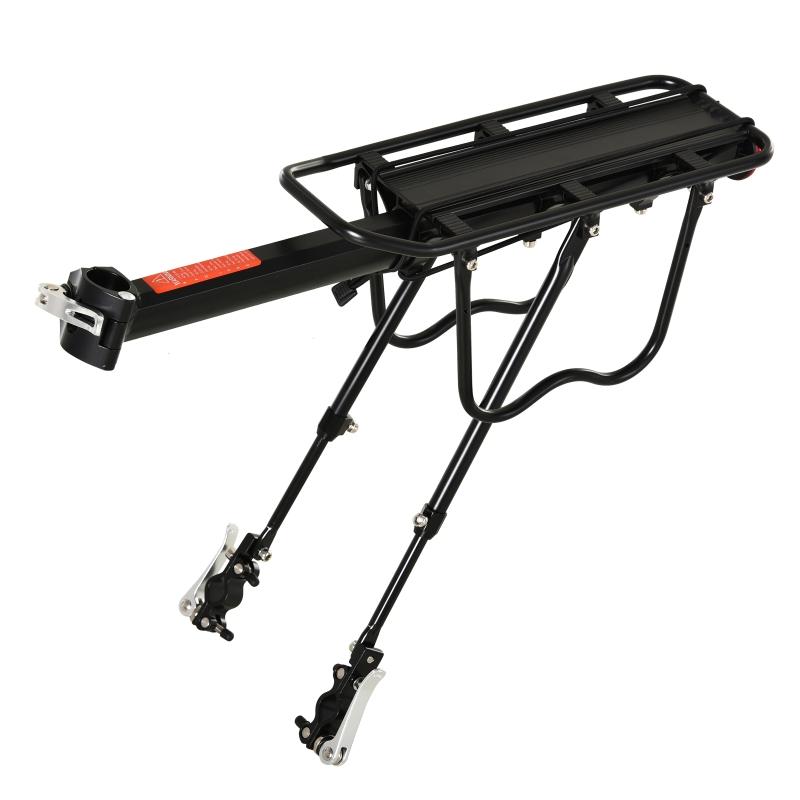 HOMCOM® Fahrrad Gepäckträger Fahrradtasche Schnellspanner Aluminium Schwarz