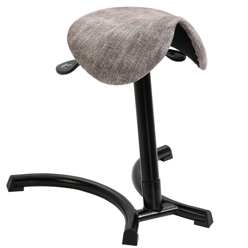 HOMCOM® Sattelhocker Bürohocker Khaki