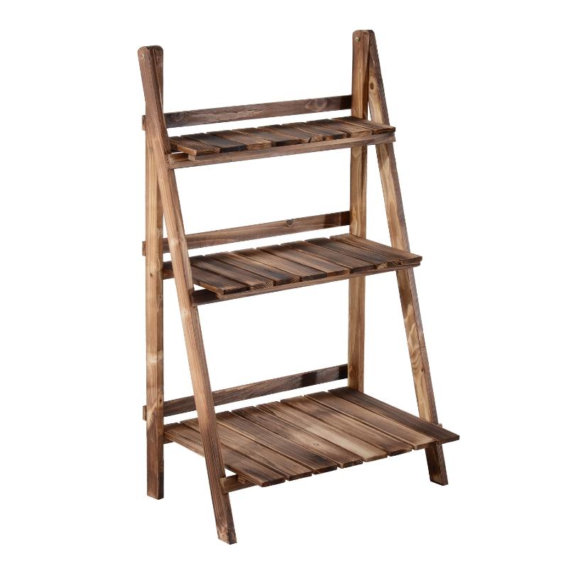 Outsunny® Pflanzentreppe L60 x W37 x H93cm 3 Stufen Tannenholz