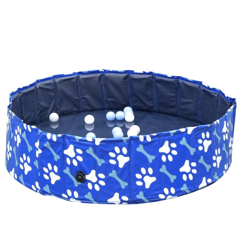 PawHut® Hundebadewanne Hundepool Hunde Badewanne Wasserbecken faltbar Ø120x30Hcm