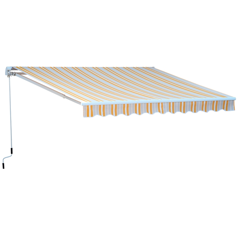 Outsunny® Markise Alu-Gelenkarm Gelenkarmmarkise 5 Farbe Sonnenschutz 3/3,5 /4/4,5m Balkon
