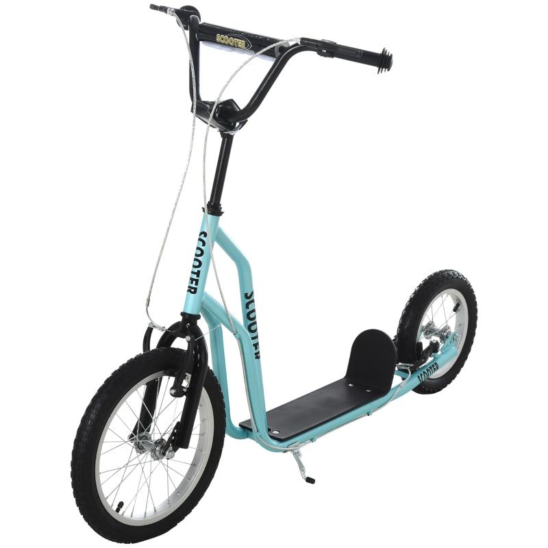HOMCOM® Tretroller Scooter Cityroller Kinder Luftreifen verstellbar Aluminium Blau