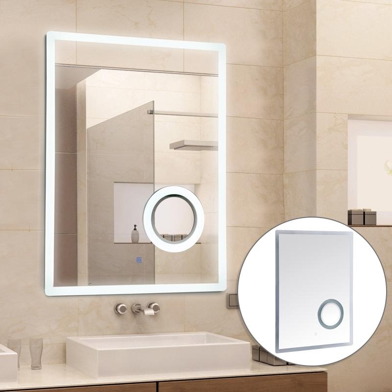 kleankin® LED Badspiegel Badezimmerspiegel Beleuchtung 65W 80x60cm