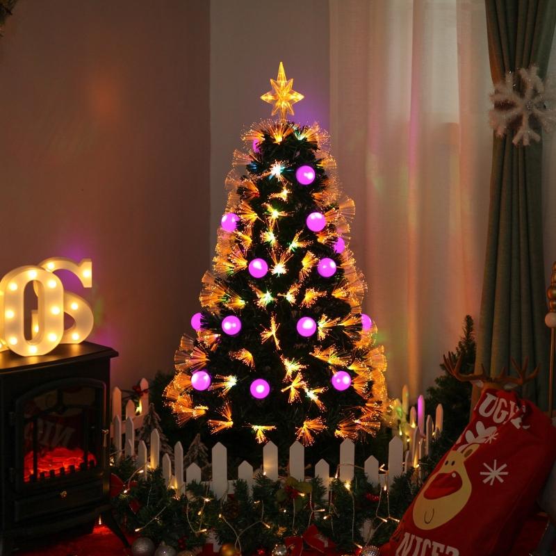 HOMCOM® Weihnachtsbaum Tannenbaum mit LED 2 Lichtfarben 130 Spitzen Ø45x 120H cm