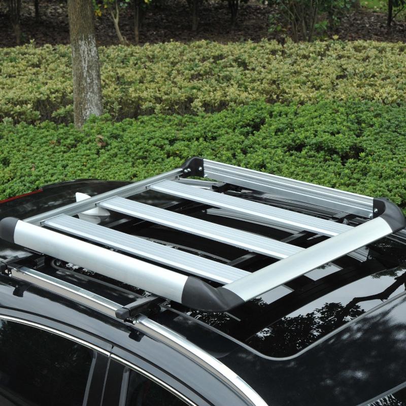 HOMCOM® Gepäckträger Dachgepäckträger Dachträger Universal 110cm Alu 75kg Silber