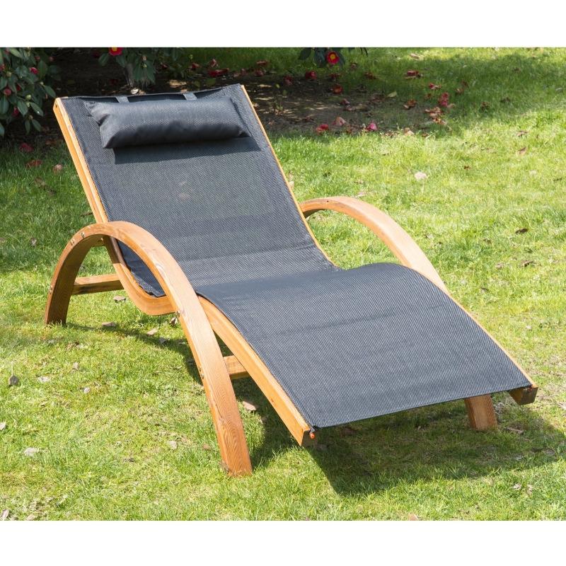 Outsunny® Relaxsessel für den Garten Sonnenliege Schwarz