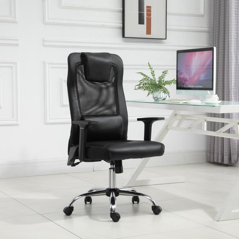 Vinsetto® Massagesessel Bürostuhl Drehstuhl mit Massagefunktion höhenverstellbar Kunstleder