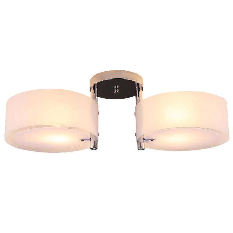 HOMCOM® Deckenleuchte Kronleuchter Kristall 2xE27 Sockel 40W Weiß