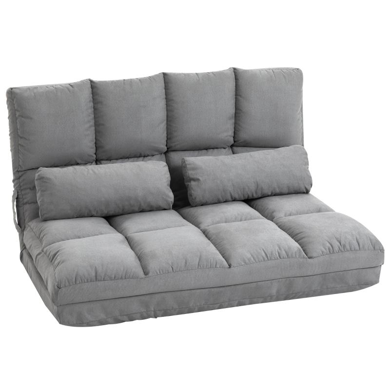 HOMCOM® Bodenstuhl 2-in-1 Bodensessel Bett mit Rückenlehne 7 Positionen Verstellbar