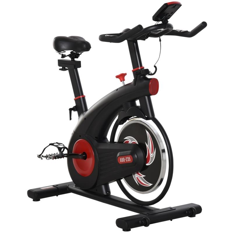 HOMCOM® Fahrradtrainer Heimtrainer Fitnessfahrrad Stufenloser mit 8KG Schwungrad Stahl