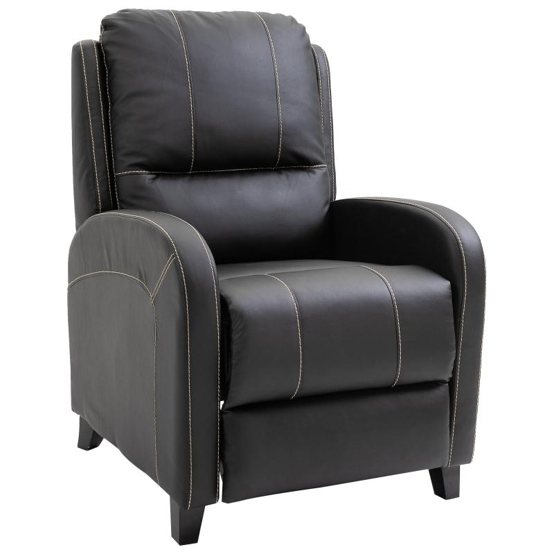 HOMCOM® Massagesessel mit Fußstütze und Heizfunktion | Relaxsessel | Schwarz | 70 x 93 x 100 cm