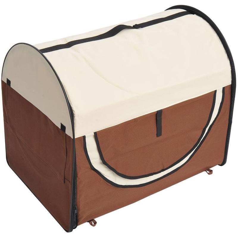 PawHut® Hundetransportbox faltbar 61x46x51 cm kaffeebraun-creme