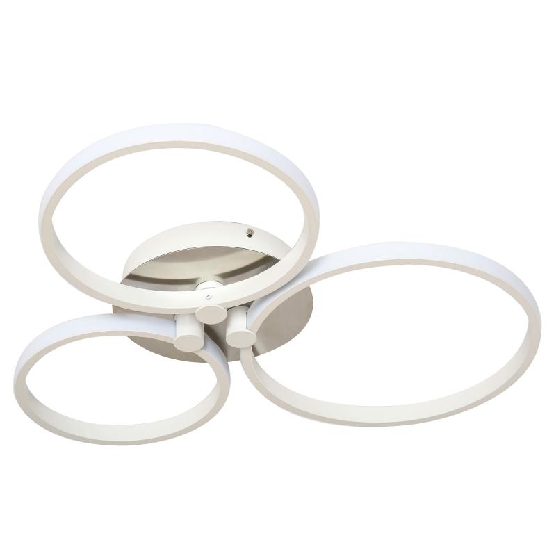 HOMCOM® Deckenleuchte modern Dreikreis Metallfuß Esszimmer Metall Aluminium Acryl