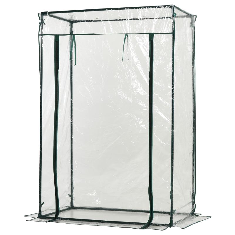 Outsunny® Gewächshaus 1x0,5x1,5m Frühbeet Transparent