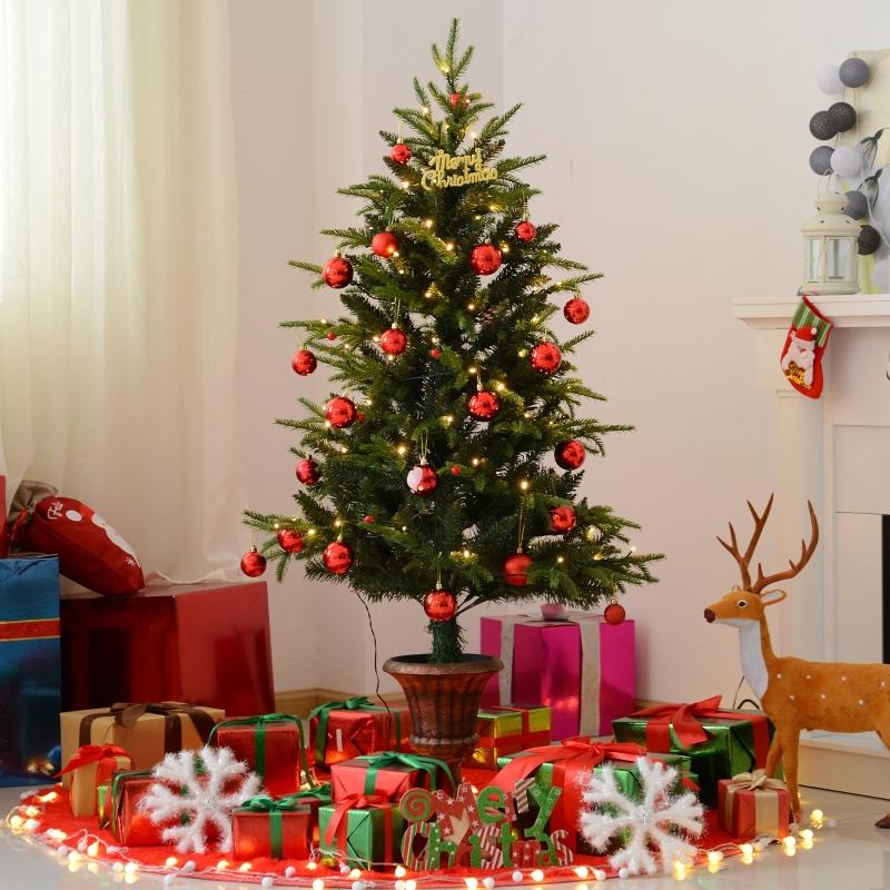 HOMCOM® Künstlicher Weihnachtsbaum   Tannenbaum   Ø 85 x 150 cm   Grün