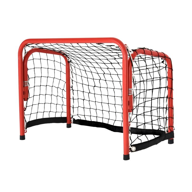 HOMCOM® Outdoor-Freizeit Tragbares Hockeytor Schnellklappbares Stahlrohr Fußballtor