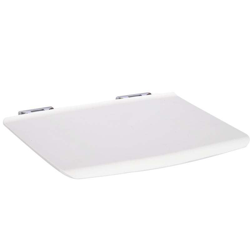 kleankin® Duschsitz Badehocker Duschklappsitz Duschhocker Wandhocker Weiß