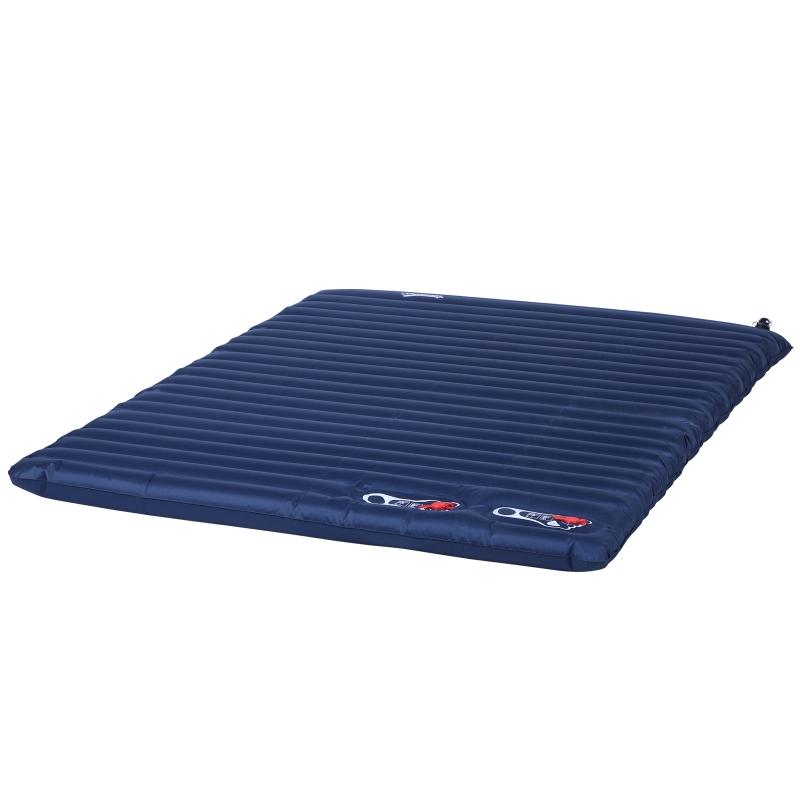 Outsunny® Luftmatraze Aufblasbare Luftbett Camping Matraze Schlafmatte Pongee Blau