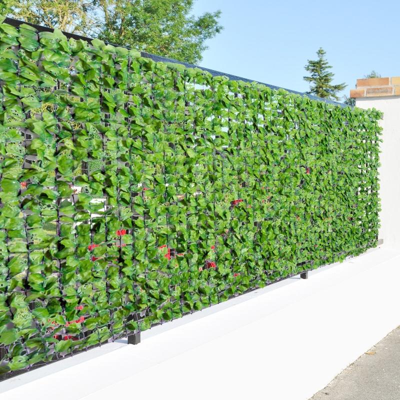 Outsunny® Künstliche Hecke Wanddekoration 1.5x3m Hellgrün Sichtschutz