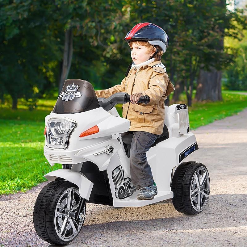 HOMCOM® Kindermotorrad 3–8 Jahre PP 87 x 41 x 54 cm Weiß