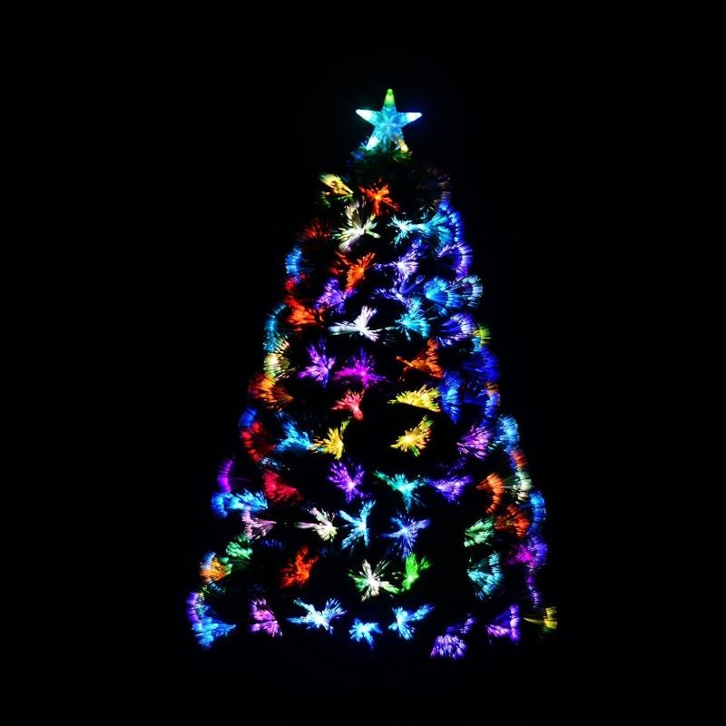 Homcom Weihnachtsbaum 180cm mit Ständer Glasfaser 7 Farben grün