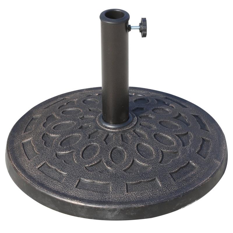 Outsunny® Schirmständer 14kg Sonnenschirmfuß Sonnenschirmständer 38/48mm Harz Bronze