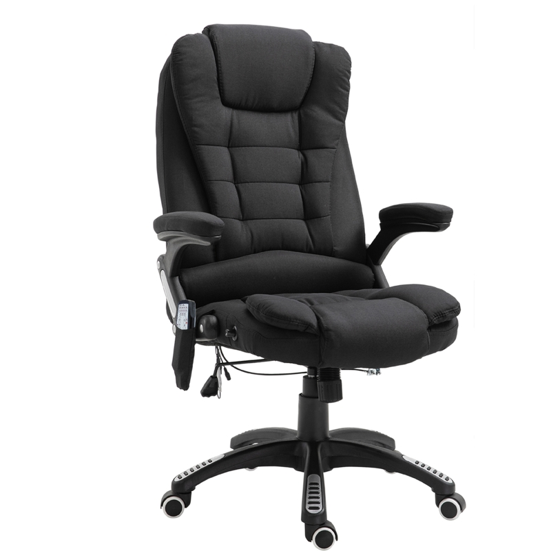 Vinsetto Massage 130° Reclining Chair Office Chair Relax Head