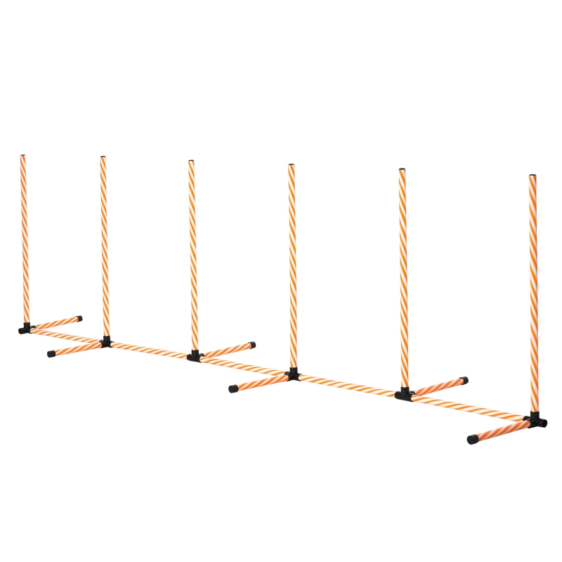 PawHut Dog Agility Weave Poles Training Obstacle Course Set Slalom Equipment with Bag
