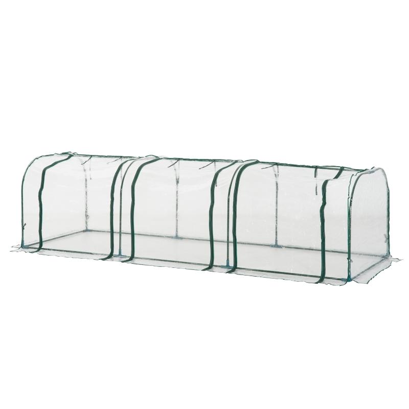 Outsunny PVC Transparent Greenhouse, Steel Frame, L size
