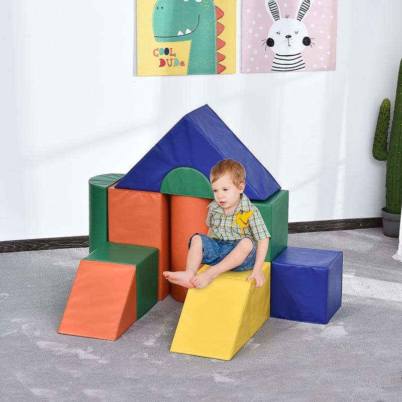 Zestaw klocków piankowych do budowania zabawek dla 1-3 letnich dzieci 11szt PU EPE HOMCOM®