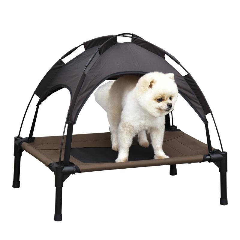 Legowisko dla psa z zadaszeniem, podwyższone legowisko dla psa, legowisko dla psa, oddychająca tafta