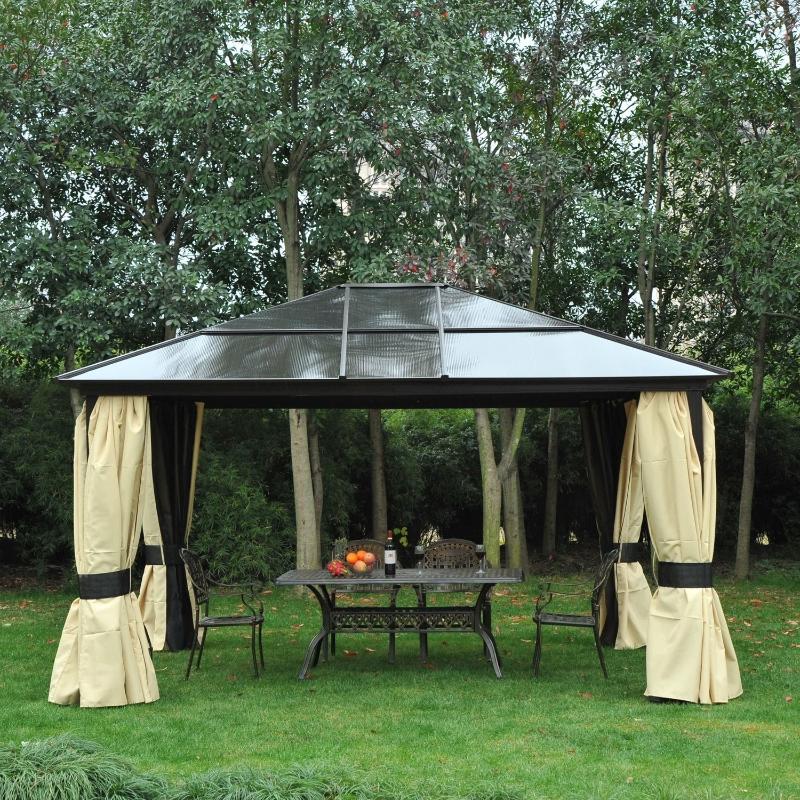 luksusowy aluminium pawilon namiot imprezowy namiot ogrodowy z daszkiem przepuszczającym światło czarny