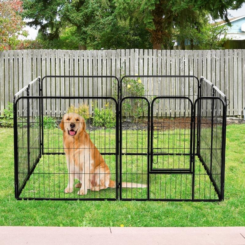 PawHut® Kojec Zagroda dla Psa Szczeniąt Wielowariantowy 80x80 cm