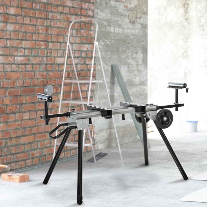 Stół roboczy do ukośnic stalowy ukośnica pilarka ukosowa stal 123,5-245 cm