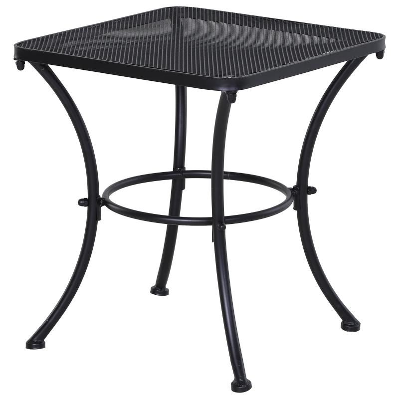 Stolik ogrodowy stolik kawowy stolik na taras metal kolor czarny Outsunny