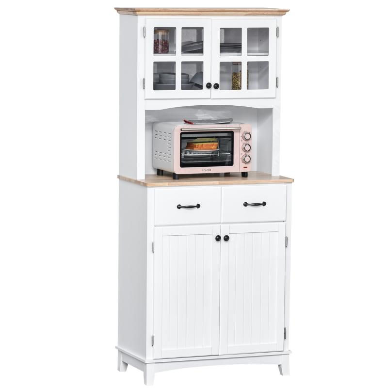 Szafka kuchenna z szufladą szafka wysoka z regulowanymi półkami kredens schowek drewno