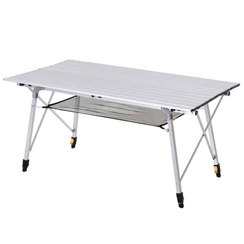 Stół piknikowy składany kempingowy regulacja wysokości torba transportowa aluminium Outsunny