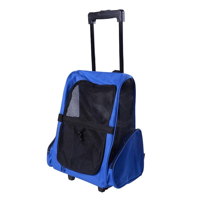 Plecak torba transporter dla psa kota 2w1 niebieski PawHut